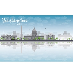 Washington DC city skyline vector image