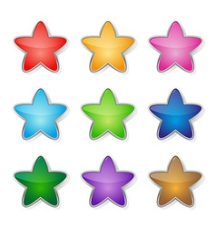 Set of multicolored stars vector