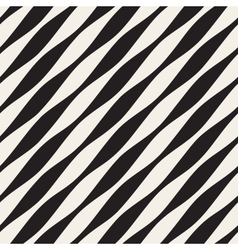 Seamless black and white diagonal wavy vector