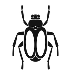 Dung beetle icon simple style vector
