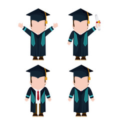 Graduation cap boy graduate university icon vector
