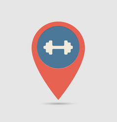 map pin gym vector image