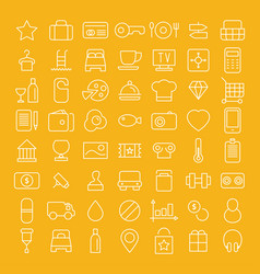 line icon set flat vector image