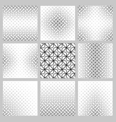 Black and white ellipse grid pattern set vector