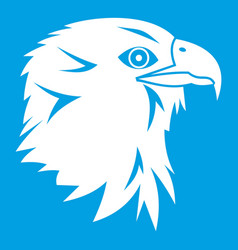 eagle icon white vector image