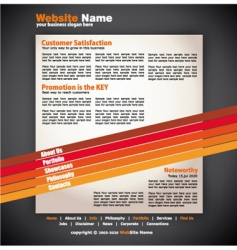 Modern artistic web design template vector
