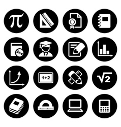 Mathematics icons set vector