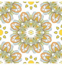 Round seamless pattern vector