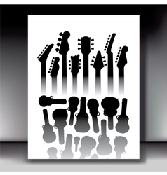 Lots of guitar cases vector