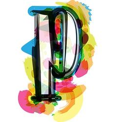 Artistic Font - Letter p vector image