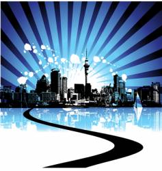 Cityscape background urban art vector