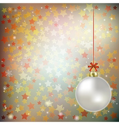 Abstract gray background with christmas decoration vector