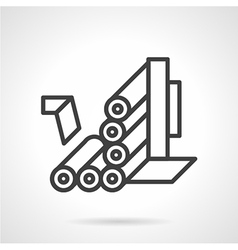 Roller conveyor simple line icon vector