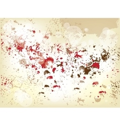 Grunge background with splashes vector