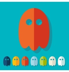 Flat design ghost vector