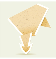 paper origami arrow vector image