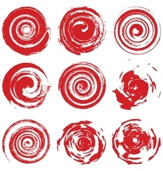 Grunge Red Spiral vector image