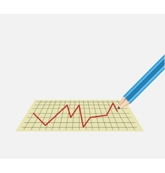 chart on the sheet with a pencil vector image