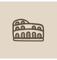 Coliseum sketch icon vector