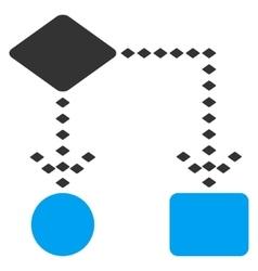 Algorithm scheme toolbar icon vector