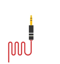 Audio jack cable icon isolated vector image
