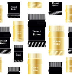 Bank peanut butter seamless background vector image vector image