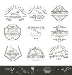 Barber and Hairdressing Icons vector image