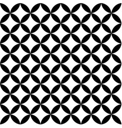 black and white overlapping circles abstract vector image vector image