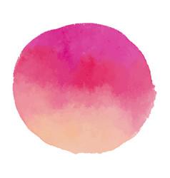 Bright light pink watercolor banner blot vector