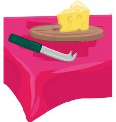 Cheese board vector