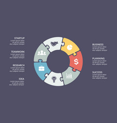circle puzzle infographic cycle diagram vector image