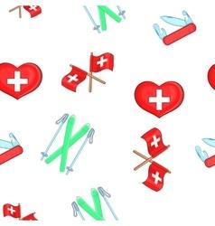 Country Switzerland pattern cartoon style vector image
