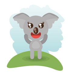 Cute koala animal wildlife vector