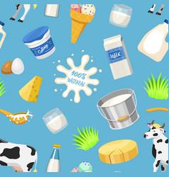 Dairy milk products natural food calcium vector