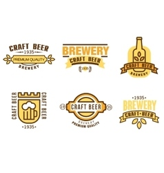 Design elements for beer house vector