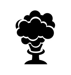 Explosion chemical isolated icon vector