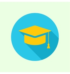 icon of mortarboard or graduation cap vector image