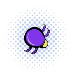 Mite virus icon comics style vector