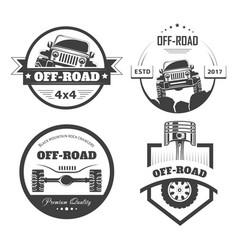Off-road 4x4 extreme car club logo templates vector