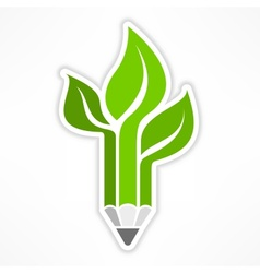 Pencil like tree vector image vector image