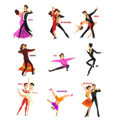 Professional dancer people dancing young man and vector