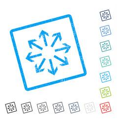 Radial arrows icon rubber watermark vector
