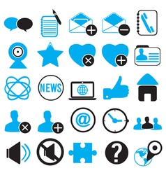 Set icons for community vector