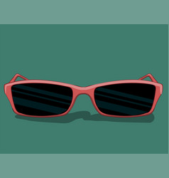Sunglasses in pink frame of a classic style lie on vector