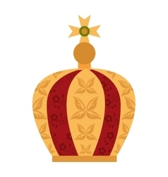 Virgin mary crown icon vector