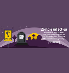 zombie infection banner horizontal concept vector image