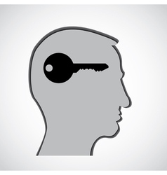 Human head thoughts vector image