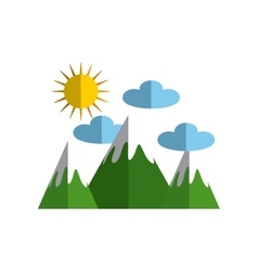 Ecology landscape nature icon vector