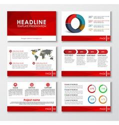 Set of web presentation slides vector
