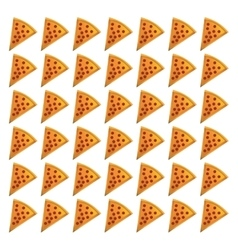 Pepperoni pizza piece vector
